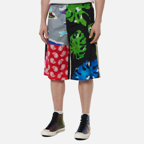 Мужские шорты MSGM Patchwork Prints Black/Green