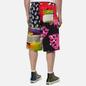 Мужские шорты MSGM Patchwork Prints Black/Green фото - 4