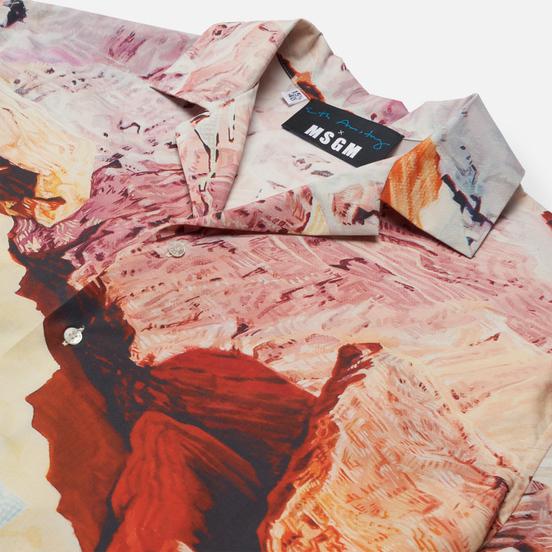 Мужская рубашка MSGM x Seth Armstrong Capsule Print 3 Beige