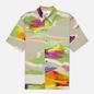 Мужская рубашка MSGM Melting Colors Print Beige фото - 0
