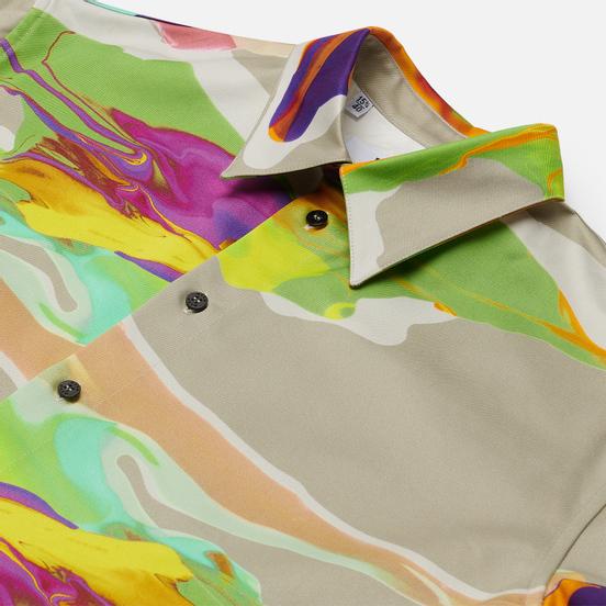 Мужская рубашка MSGM Melting Colors Print Beige