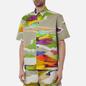 Мужская рубашка MSGM Melting Colors Print Beige фото - 3