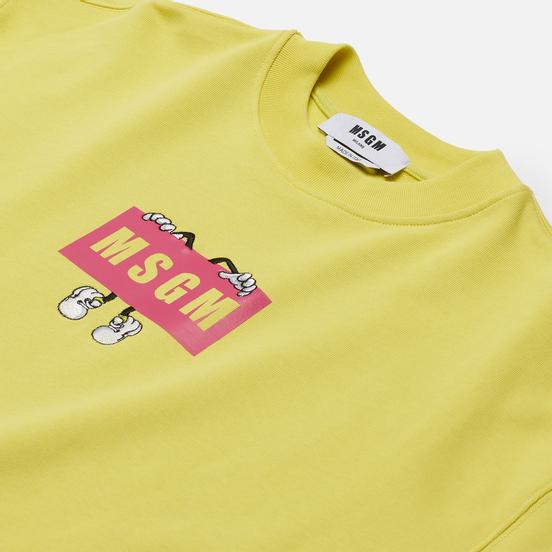 Мужская толстовка MSGM Box Comics Crew Neck Lemon Yellow