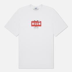 Мужская футболка MSGM Box Comics Crew Neck White