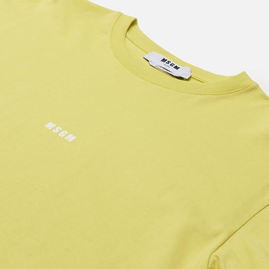 Мужской лонгслив MSGM Micrologo Lemon Yellow