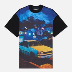Мужская футболка MSGM x Seth Armstrong Capsule Print 1 Black