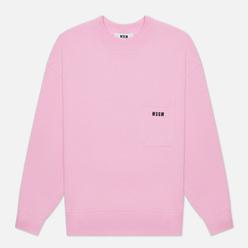 Мужская толстовка MSGM Essentials Crew Neck Pink