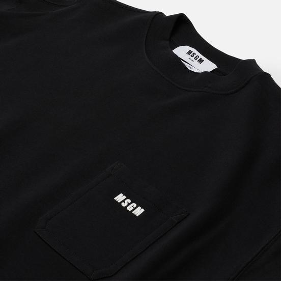Мужская толстовка MSGM Essentials Crew Neck Black