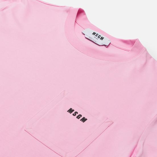 Мужская футболка MSGM Essentials Crew Neck Pink