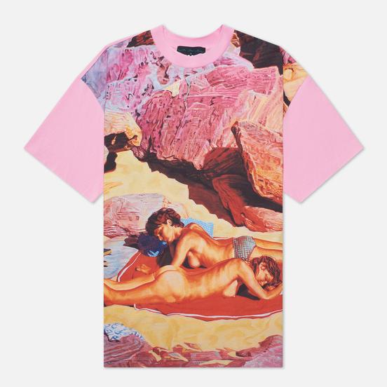 Мужская футболка MSGM x Seth Armstrong Capsule Print 3 Pink