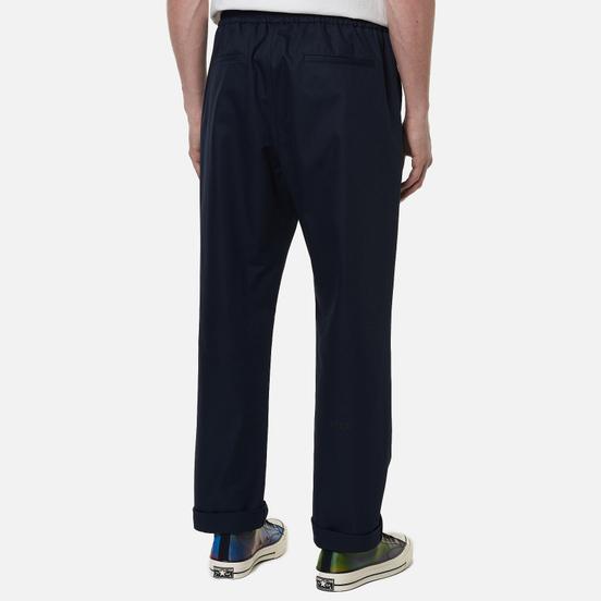 Мужские брюки MSGM Print Cotton Gabardine Navy