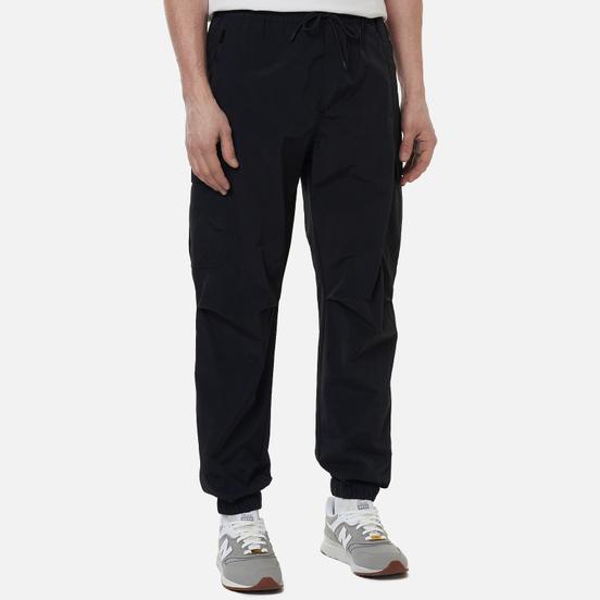 Мужские брюки MSGM Embroidery Logo Cargo Black