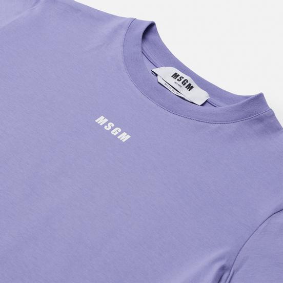 Женская футболка MSGM Micrologo Wisteria