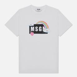 Женская футболка MSGM Cute Logo Box White