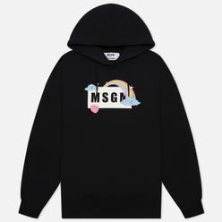 Женская толстовка MSGM Cute Logo Box Hoodie Black