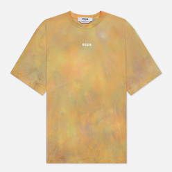 Женская футболка MSGM Tie Dye Multicolor