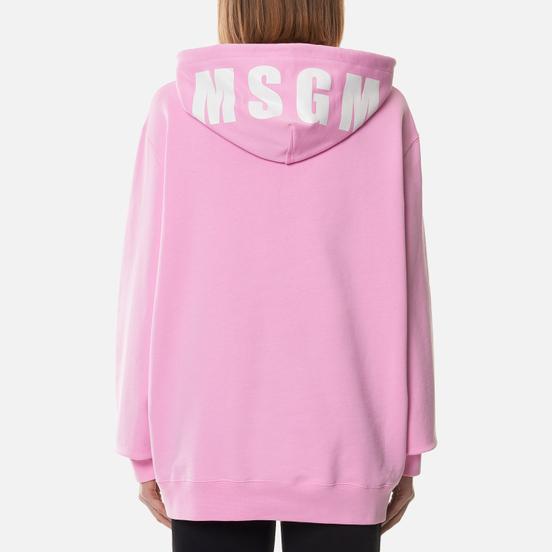 Женская толстовка MSGM Maxilogo Hoodie Pink