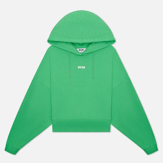 Женская толстовка MSGM Micrologo Hoodie Luminous Green