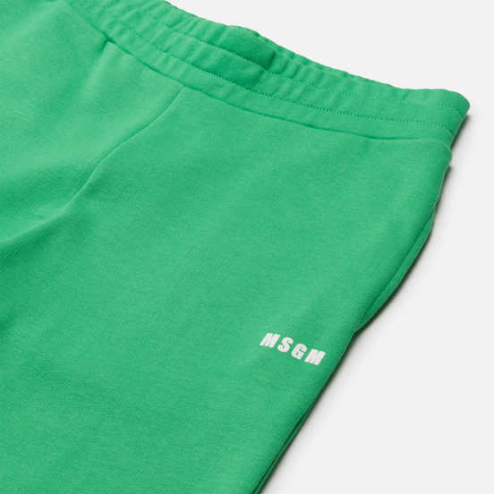 Женские брюки MSGM Micrologo Luminous Green