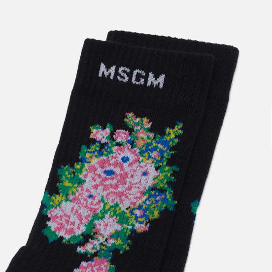 Носки MSGM Bouquet Flowers Black