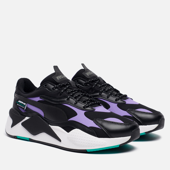 Мужские кроссовки Puma x Mercedes AMG Petronas Motorsport RS-X3 Black/Luminous Purple