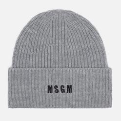 Шапка MSGM Micrologo Basic Light Grey/Black
