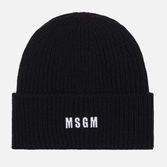Шапка MSGM Micrologo Basic Black/White