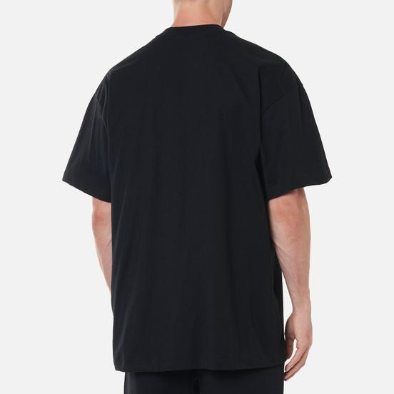 Мужская футболка MSGM Micrologo High Crew Neck Black/White