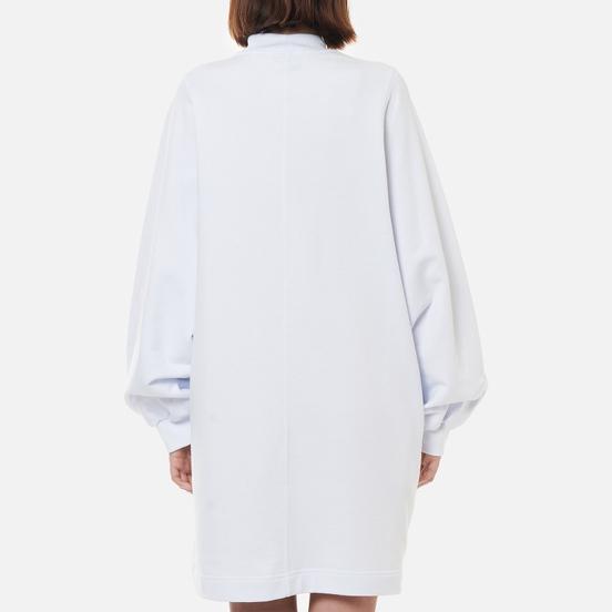 Женское платье MSGM Micrologo Rose Flower Optical White/Black