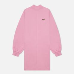 Женское платье MSGM Micrologo Rose Flower Bright Pink/Black