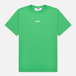 Женская футболка MSGM Micrologo Seasonal Crew Neck Classic Green/White