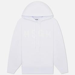 Женская толстовка MSGM Paint Logo Hoodie Optical White