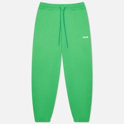 Женские брюки MSGM Micrologo Seasonal Classic Green/White