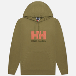 Мужская толстовка Helly Hansen HH Logo Hoodie Terrain Green