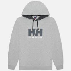 Мужская толстовка Helly Hansen HH Logo Hoodie Grey Melange/Black/White