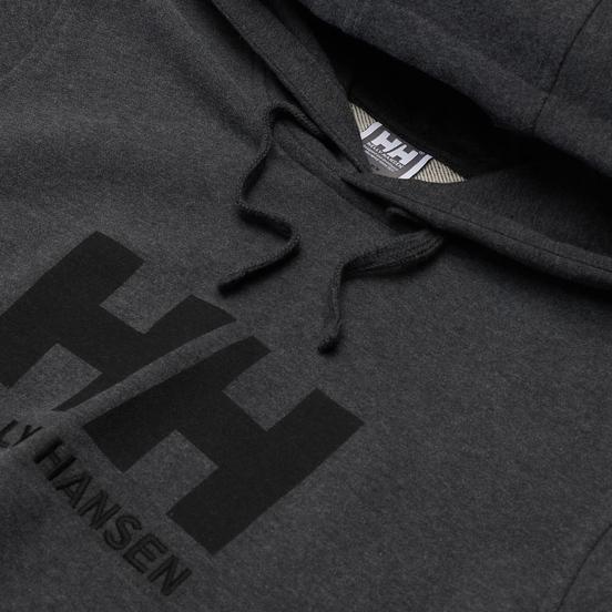 Мужская толстовка Helly Hansen HH Logo Hoodie Ebony Melange