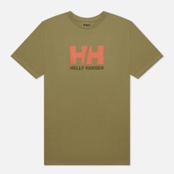 Мужская футболка Helly Hansen HH Logo Terrain Green