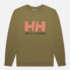 Мужская толстовка Helly Hansen HH Logo Crew Terrain Green