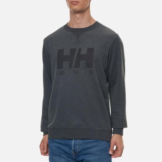Мужская толстовка Helly Hansen HH Logo Crew Ebony Melange