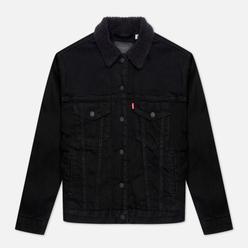 Женская джинсовая куртка Levi's Ex-Boyfriend Sherpa Trucker Forever Black