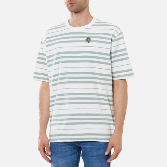 Мужская футболка Levi's Stay Loose Backyard Stripe Blue Surf