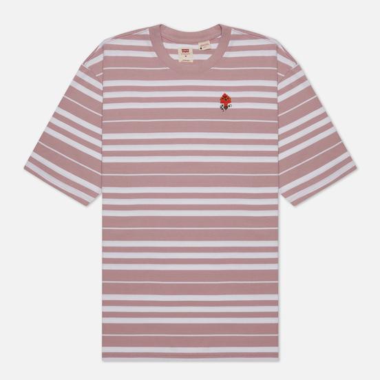 Мужская футболка Levi's Stay Loose Backyard Stripe Keepsake Lilac/Purple