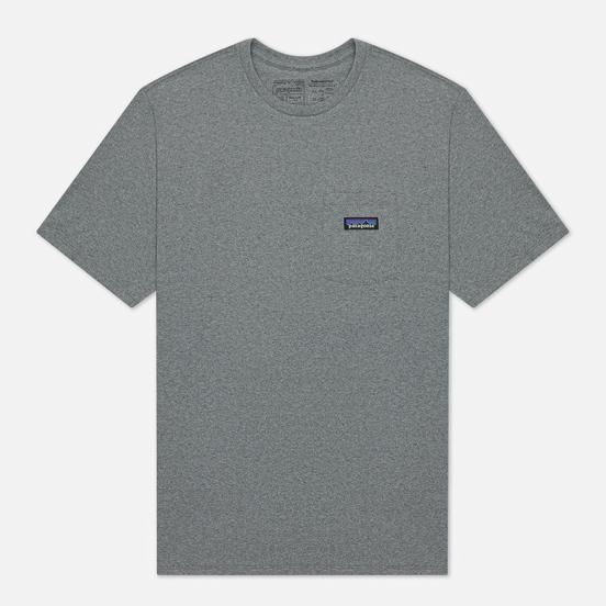 Мужская футболка Patagonia P-6 Logo Chest Pocket Responsibili-Tee Gravel Heather