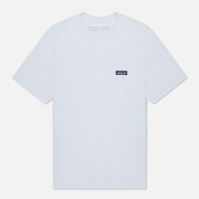 color block chest pocket dip hem tee Мужская футболка Patagonia P-6 Logo Chest Pocket Responsibili-Tee