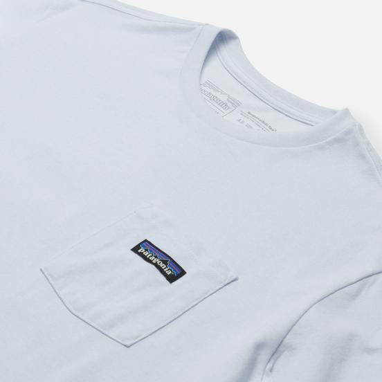 Мужская футболка Patagonia P-6 Logo Chest Pocket Responsibili-Tee White
