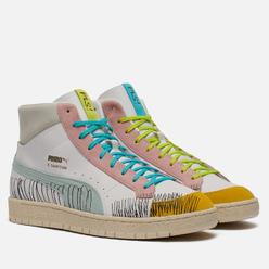 Мужские кроссовки Puma x Michael Lau Ralph Sampson 70 Mid White/Blue Glow