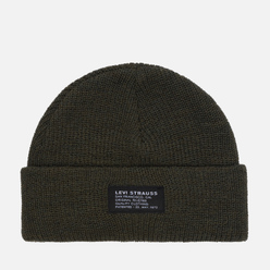 Шапка Levi's Cropped Beanie Dark Green