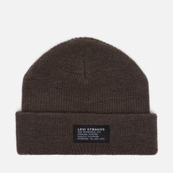 Шапка Levi's Cropped Beanie Regular Grey