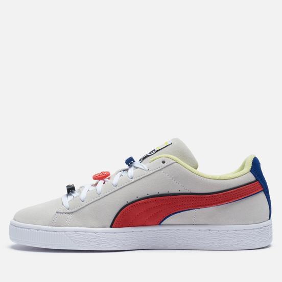 Мужские кроссовки Puma Suede Decor8 White/Poppy Red