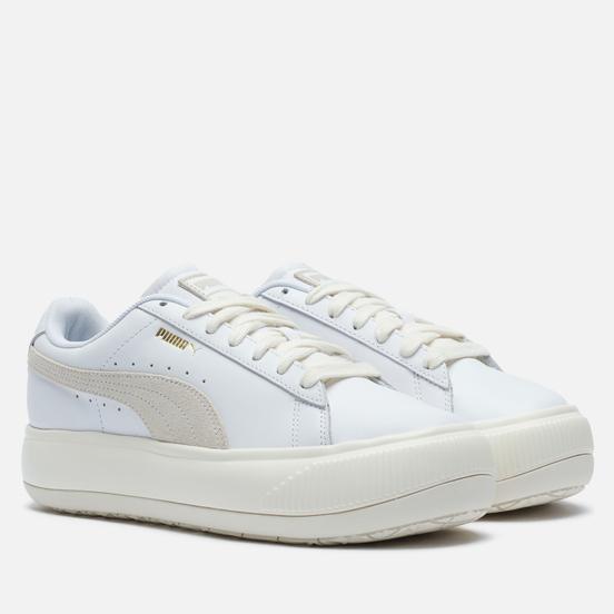 Женские кроссовки Puma Suede Mayu Leather White/Marshmallow